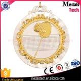 싼 질 금 둥근 돋을새김된 금속 배드민턴 메달