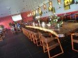 Tabela de jantar da mobília do restaurante e jogo de madeira modernos da cadeira