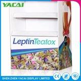 Piso de porta-jóias interior do papel suporte de ecrã para as lojas especializadas