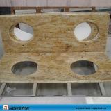 Gele Countertop van de Keuken van de Steen van het Graniet