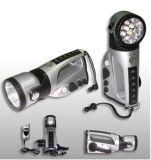 Crank Dynamo Lampe de poche LED avec AM / FM Radio (ZY-008)