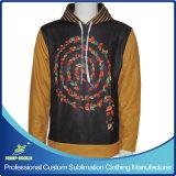 カスタムデザインの完全な昇華優れたプルオーバーのフード付きのスエットシャツ