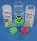 Caja redondo de encargo cilindro de plástico (PVC 001)