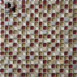 Mosaico cristalino con mármol usando en el departamento de Coffce