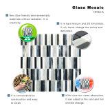 Mosaico mezclado blanco y negro clásico del vidrio manchado