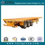 Cama plana semi reboque para transporte de contentores