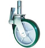 강철 바퀴 비계 피마자주조하 에 6in PU