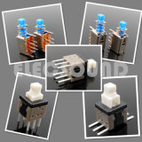Los interruptores DIP-Switch Tact RoHS cuadrada de plástico negro