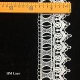 8.5cm weg von der weißen Baumwollspitze, Gänseblümchen-Blumen-Ordnungs-Entwurf, Weinlese punktiert Ordnungs-Spitze Hmhb583