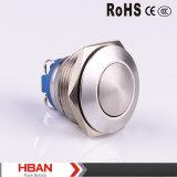 Hban (19mm) CE RoHS Pulsador cambios momentáneos Domo