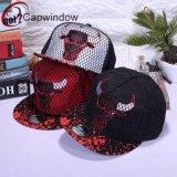 100% полиакрил Flexfit Snapback колпачок и Red Hat с вышивкой и сетка