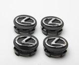 Le moyeu de roue recouvre le chapeau central d'emblème pour l'argent 42603-30590 de noir de graphite de Lexus