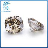 het Kussen van 8X8mm sneed de Lichte Losse Diamant Moissanite van de Kleur Champage voor Juwelen