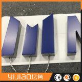 Sinal acrílico ao ar livre do diodo emissor de luz da letra de canaleta 3D traseira