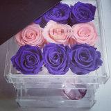 Imperméable fleur Acrylique Crystal Clear Box pour 9 Roses afficher