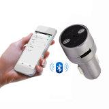 Großverkauf Spitzen-FM Bluetooth Doppel-USB schließt Metallauto-Aufladeeinheit an den Port an