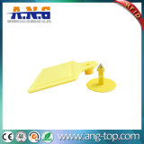 黄色いカラー牛動物の耳札