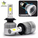 Trois gros côté d'éclairage automatique La Tête de Lampe COB 8000 Lumens 6500K H7 H11 Kit de conversion de H4 S2 voiture une ampoule de phare à LED