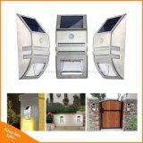 Garten-Lampen-Sonnemmeßfühler-Wand-Licht des Edelstahl-LED im Freien