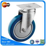 шарнирное соединение полиуретана 125mm голубое катит рицинус вагонетки мебели
