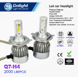 Bulbo de gran alcance barato del reemplazo de la linterna del coche de la MAZORCA 4300K/6000K LED de Cnlight Q7-H4