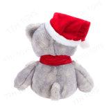 Netter Plüsch-Teddybär-angefülltes Tier mit Weihnachtshut u. -schal für Weihnachten