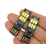 6 LED blancos calientan la luz ajustable del USB del vector del interruptor del tacto