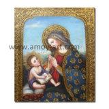 Мадонна и детской классической рисунок картины маслом на холсте трещины