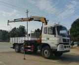 Dongfeng 6X6 outre de camion de route a monté avec la grue pliable de XCMG