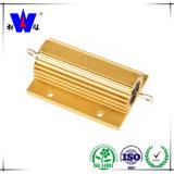 Rx24 황금 알루미늄 케이스 Wiremound 저항기