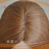 Peruca superior de seda da beira loura européia do plutônio do cabelo (PPG-l-0424)