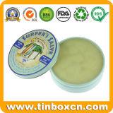Boîte en fer blanc petit en métal rond pour la crème de soins de la peau