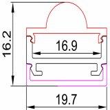 Perfil expulso largo de alumínio da luz de tira do diodo emissor de luz da carcaça do diodo emissor de luz das extrusões 12mm