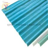 Una luz azul ligero ondulado de FRP paneles del techo de la FRP