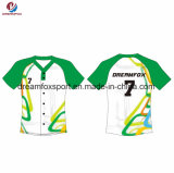 Base-ball 100% unisexe de sublimation de polyester de vêtements de sport de modèle de mode de Dreamfox Jersey