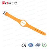 Wristband del PVC del Hf de la alta seguridad MIFARE (r) DESFire (r) RFID para el hotel