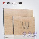PVDFの木の質のアルミニウムComspositeの壁のボード