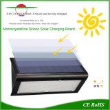 태양 가벼운 방수 거리 옥외 벽 램프 레이다 운동 측정기
