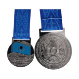 Chapado en oro medalla de recuerdo con Pantone cordón