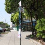 Bandiera di volo del Palo della vetroresina che fa pubblicità alla bandierina della piuma