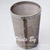 Malla de alambre de acero inoxidable perforado Cesta Filtro de té