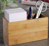 Desktop de bambu Papelaria Caixa de Armazenamento
