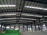 Estructura de acero hermoso edificio de construcción con grandes Span