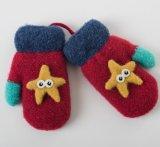 Детская Новая зимние вязаные рукавицы