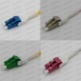 Cordon de connexion de fibre optique de LC-LC APC/Sm/mm/Om4 Dx 2.0/3.0 PVC/LSZH Uniboot