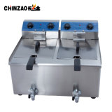 friggitrice profonda elettrica industriale dei doppi serbatoi 36L per i polli
