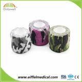 vendaje cohesivo del deporte elástico colorido quirúrgico del 10cm X4.5m