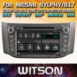 Tela de Toque do Windows Witson aluguer de DVD para a Nissan Sylphy 2012 2013 B17 2012 2013