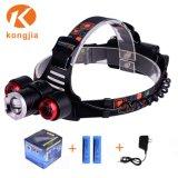 18650 재충전용 Zoomable LED Headlamp 10W Most Powerful Head Lamp