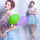Cristal perlant des robes de soirée de bal d'étudiants d'usager de demoiselle d'honneur de cocktail